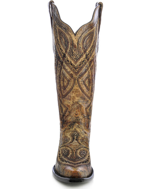 Corral Women's Embroidered Cowgirl Boots - Snip Toe, Antique Saddle, hi-res