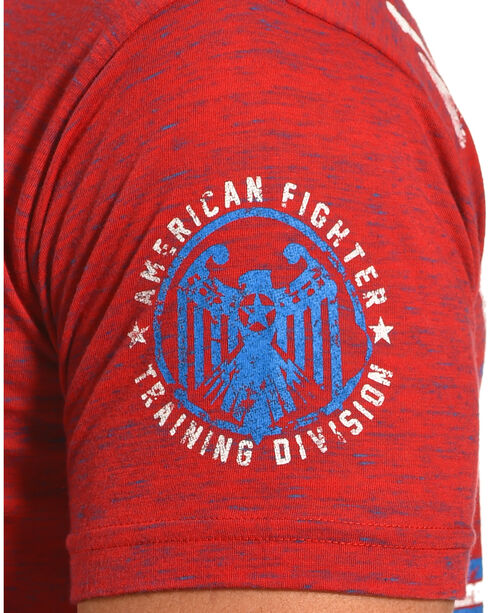 American Fighter by Affliction Men's Red Oberlin Tee , Red, hi-res