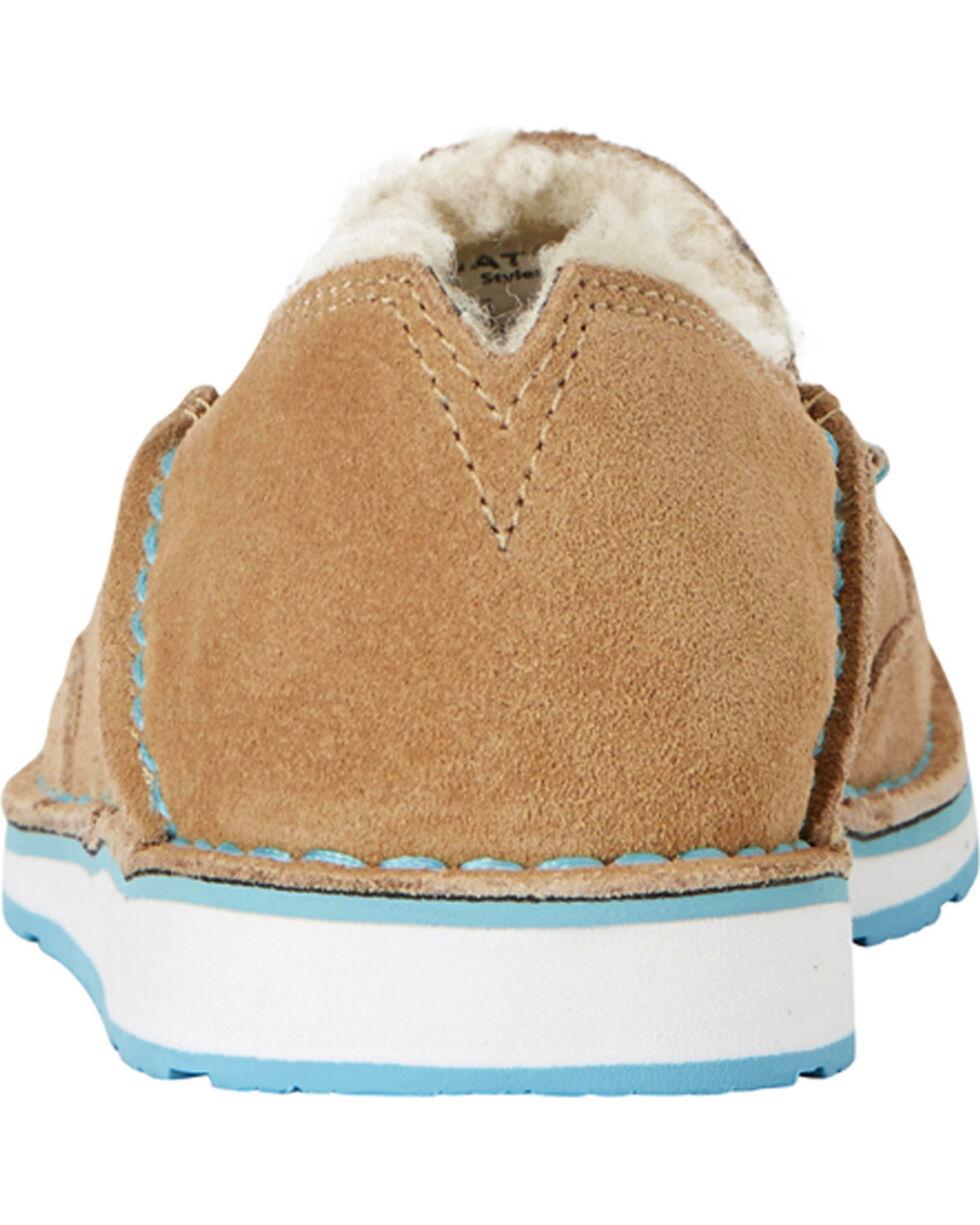 Ariat Women's Fleece Cruiser Shoes - Moc Toe, Taupe, hi-res