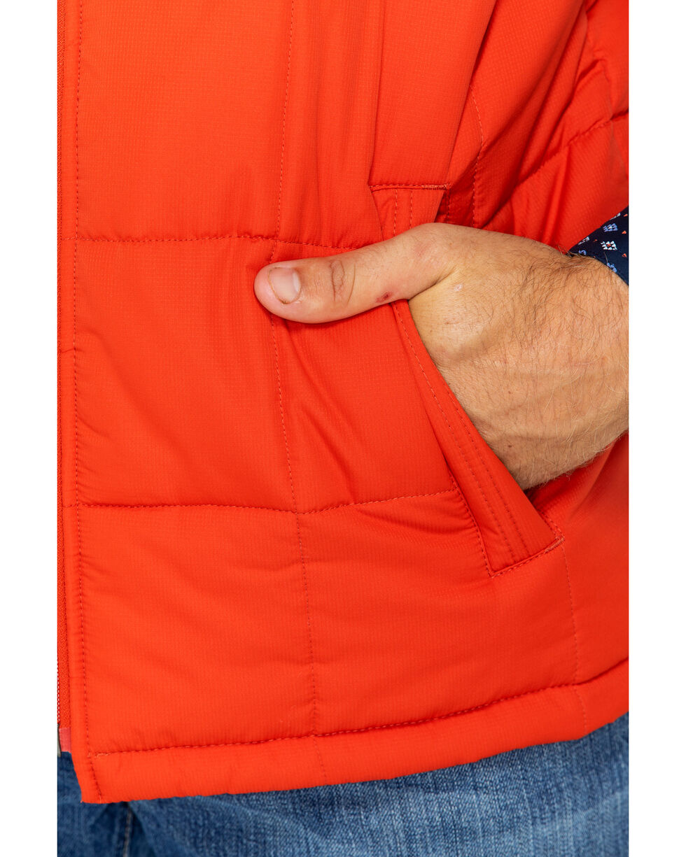 Ariat Men's Orange Crius Insulated Tiger Paw Full Zip Vest , Orange, hi-res