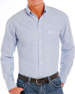 Panhandle Men's Blue Button Down Long Sleeve Shirt, Blue, hi-res