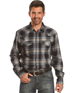 Cody James Men's Steamliner Plaid Long Sleeve Shirt - Big & Tall, Blue, hi-res
