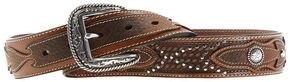 Ariat Sidewinder Basketweave Concho Belt, Tan, hi-res