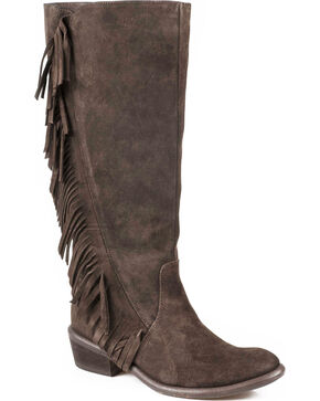 "Roper 15"" On the Fringe Riding Boots, Dark Brown, hi-res"