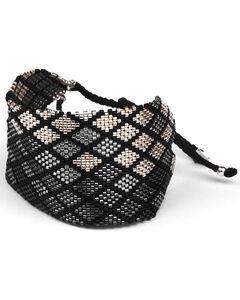 Kutula Kiss Women's Black Buzz Denim Cuff Bracelet , Black, hi-res