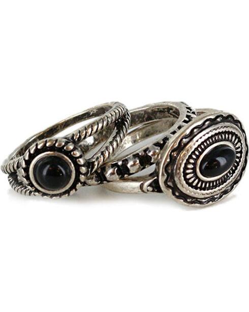 Shyanne Women's Western Ring Set , Silver, hi-res