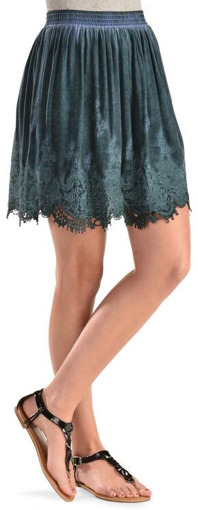 Black Swan Cat Skirt, Teal, hi-res