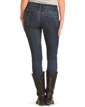 Angel Premium Women's Hand Brushed Stretch Jeans - Skinny, Indigo, hi-res