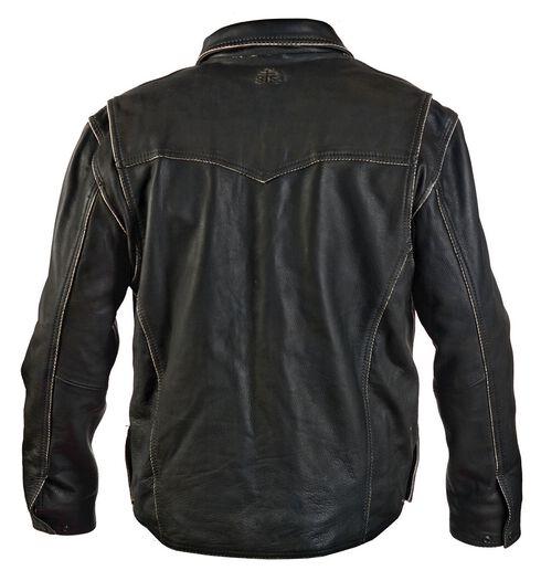 STS Ranchwear Men's Vegas Black Leather Jacket - Big & Tall - 2XL-3XL, Black, hi-res