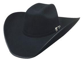Bullhide Boot Hill 8X Fur Blend Cowboy Hat, Black, hi-res