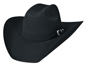 Bullhide Legacy 8X Fur Blend Cowboy Hat, Black, hi-res