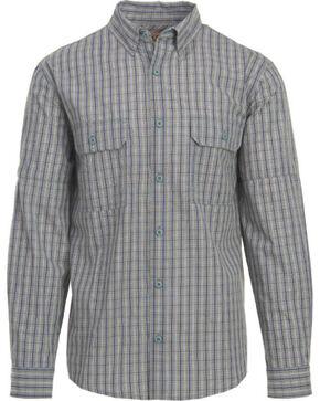 Woolrich Men's Convertible Button Down Long Sleeve Shirt , Light/pastel Blue, hi-res