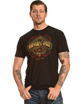 Moonshine Spirit Men's Black Pot Mash Graphic T-Shirt , Black, hi-res