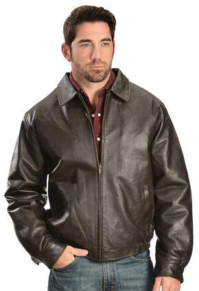 Vintage Leather Men's Brown Leather Bomber Jacket, Brown, hi-res