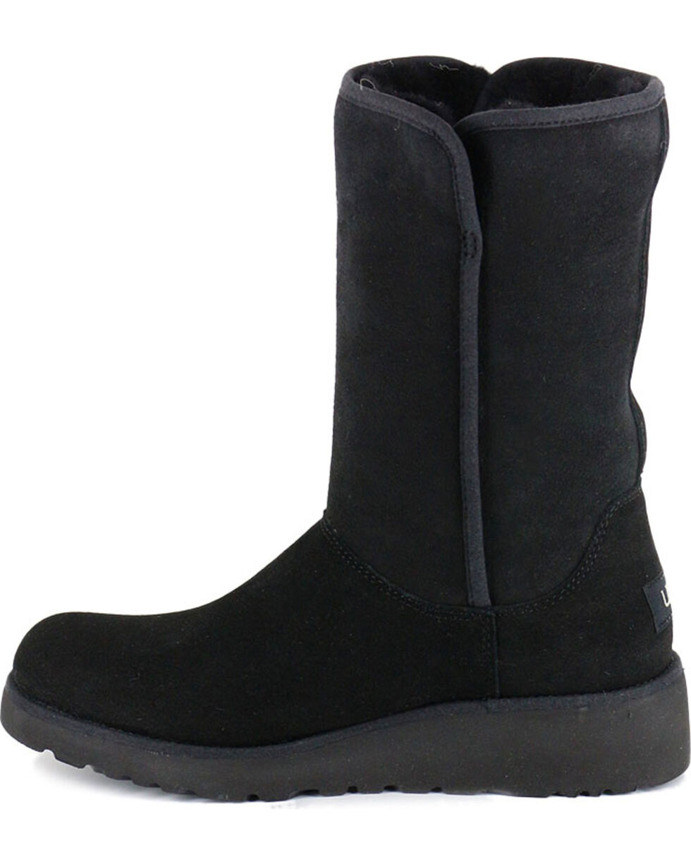 UGG Women's Black Amie Casual Boots - Round Toe , Black, hi-res