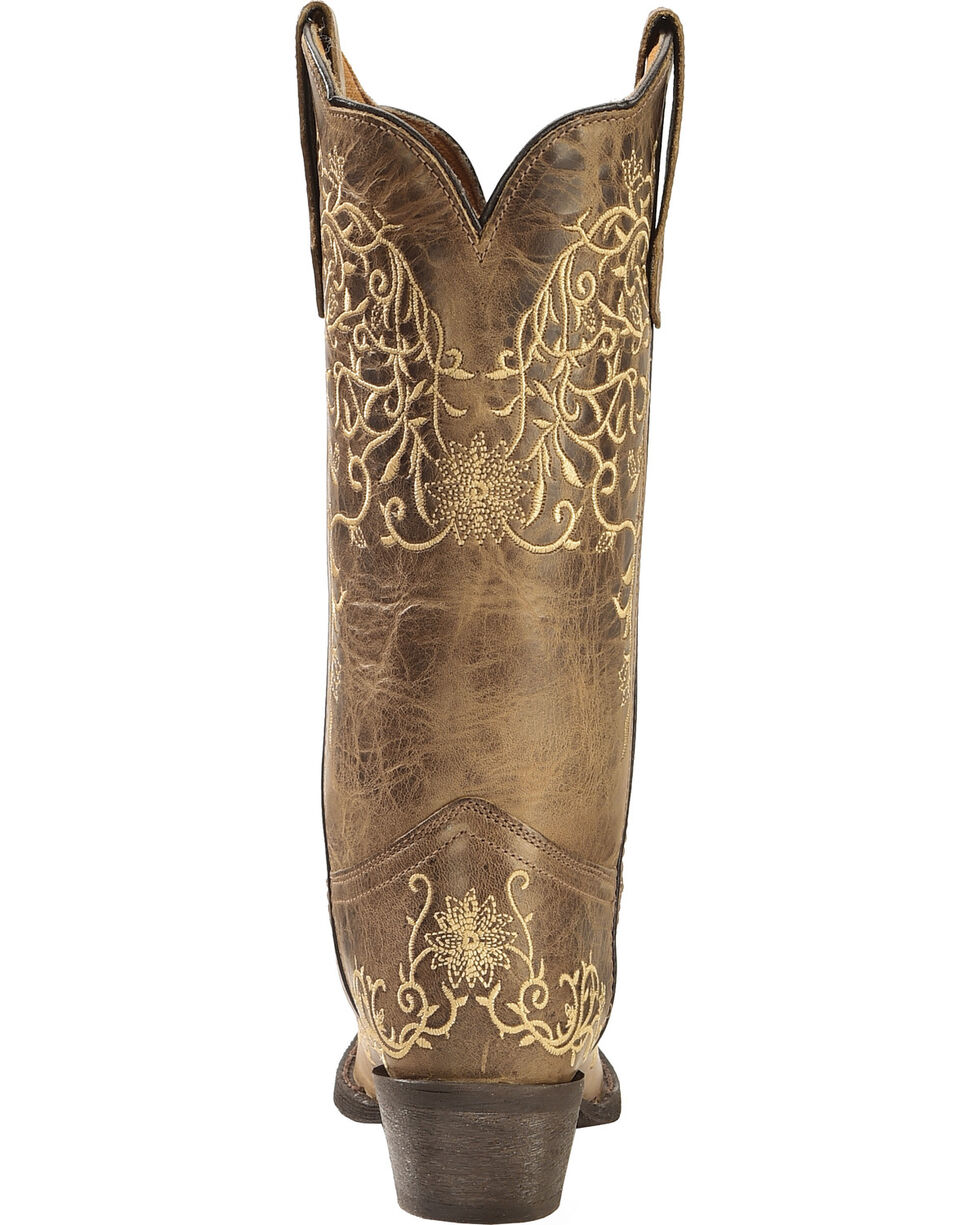 Laredo Jasmine Cowgirl Boots - Snip Toe , Taupe, hi-res