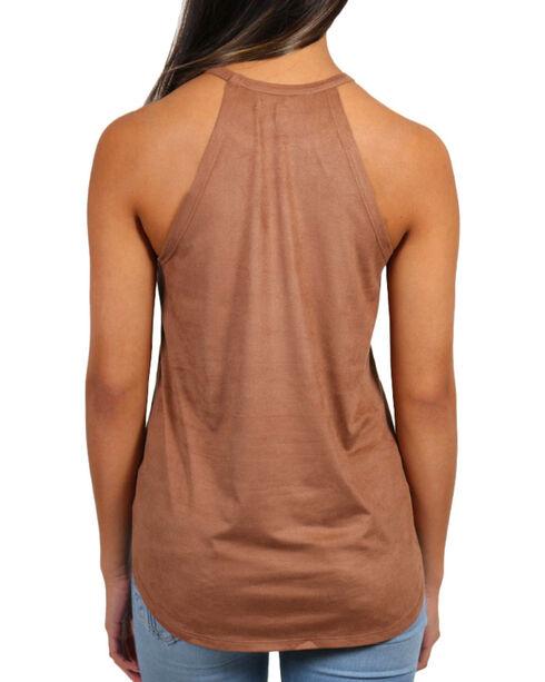 Shyanne Women's Sleeveless Printed Tank , Brown, hi-res