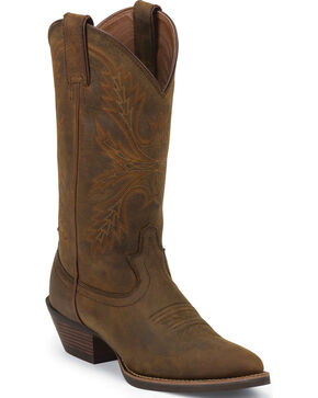 Justin Silver Collection Sorrel Apache Cowgirl Boots - Round Toe , Sorrel, hi-res