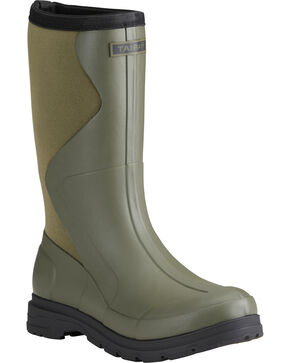 Ariat Women's Olive Springfield Rubber Boots - Round Toe , Olive, hi-res