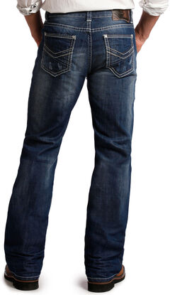 Rock and Roll Cowboy Double Barrel Relaxed Fit Dark Wash Jeans - Boot Cut, , hi-res