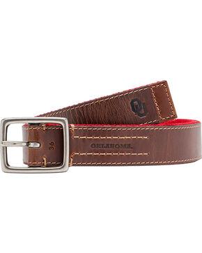 Jack Mason Men's University of Oklahoma Alumni Reversible Belt , Red, hi-res
