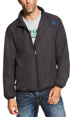 Ariat Men's Black Ideal Windbreaker Jacket, Black, hi-res