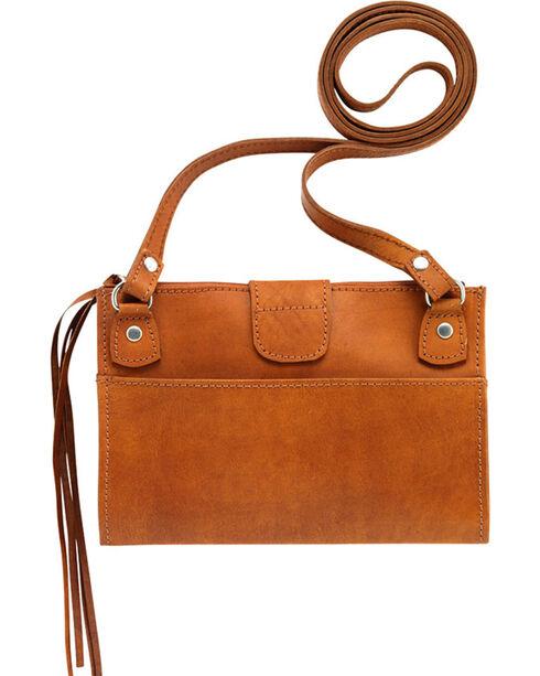 American West Women's Foldover Crossbody Bag, Tan, hi-res