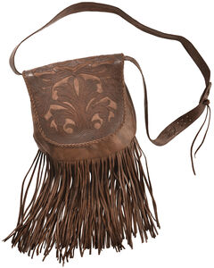 Kobler Leaher Hand-Tooled Antique Finish Bag , , hi-res