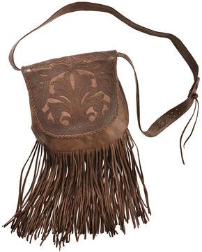 Kobler Leaher Hand-Tooled Antique Finish Bag , Tan, hi-res