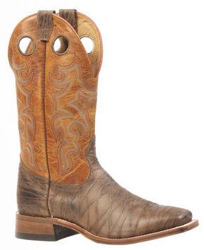 Boulet Rio Brown Delantero Piel Cowboy Boots - Square Toe, Brown, hi-res