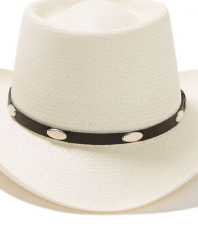 Stetson Royal Flush 10X Shantung Straw Cowboy Hat, Natural, hi-res