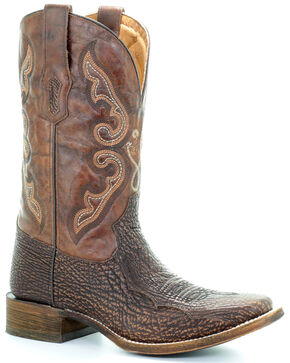 Corral Men's Tyson Durfey Performance Line TD Shark Boots - Square Toe, Brown, hi-res
