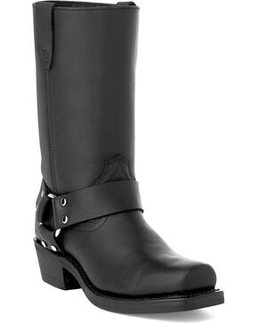 Durango Women's Black Harness Western Boots - Square Toe, Black, hi-res