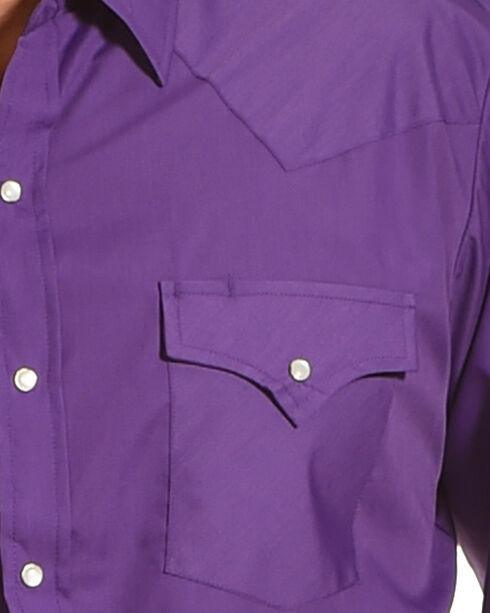 Ely Cattleman Men's Purple Button Up Long Sleeve Shirt , Purple, hi-res
