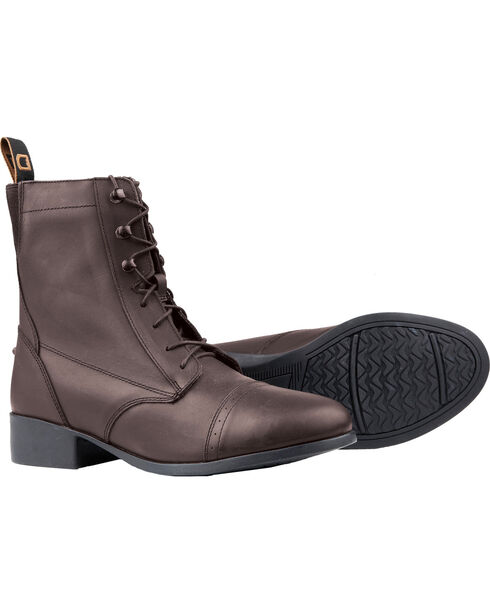 Dublin Elevation Laced Paddock Brown Equestrian Boots, , hi-res
