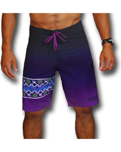 Hooey Men's Purple Print Board Shorts , Purple, hi-res