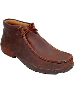 Twisted X Driving Lace-Up Moccasin Shoes - Round Toe, , hi-res