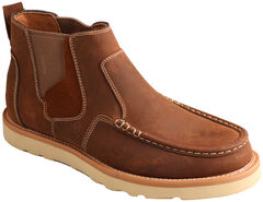 Twisted X Men's Brown Casual Pull-On Shoes - Moc Toe , , hi-res