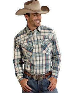 Roper Men's Amarillo Collection Green Plaid Western Shirt, , hi-res