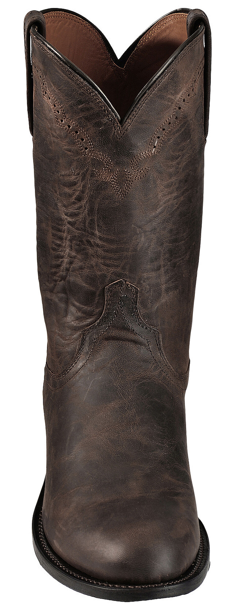 Lucchese 1883 Handmade Madras Goat Roper Boots - Round Toe, Chocolate, hi-res