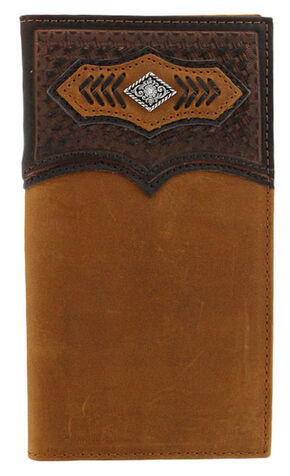 Cody James Men's Basketweave Concho Rodeo Wallet, Brown, hi-res