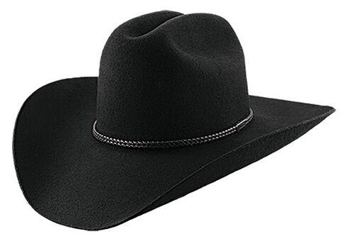 Master Hatters Men's Black Lariat 2X Wool Cowboy hat , , hi-res