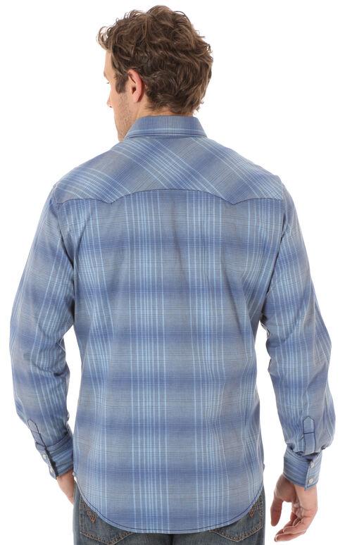 Wrangler Retro Men's Blue Two Pocket Long Sleeve Shirt, Blue, hi-res