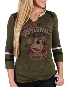 Panhandle Women's Dixie Renegade Shirt, Olive, hi-res
