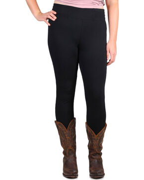 Boom Boom Jeans Women's Black Leggings - Plus, Black, hi-res