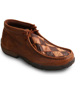 Twisted X Men's Brown Driving Moccasins Boots - Moc Toe , Brown, hi-res