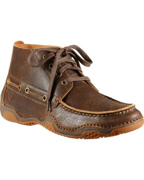 Ariat Holbrook Lace-Up Casual Shoes, Wood, hi-res