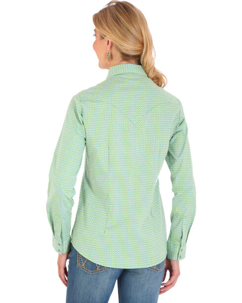 Wrangler Women's Turquoise Print Long Sleeve Shirt , Turquoise, hi-res