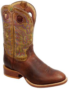 Twisted X Stockman Cowboy Boots - Round Toe, Copper, hi-res