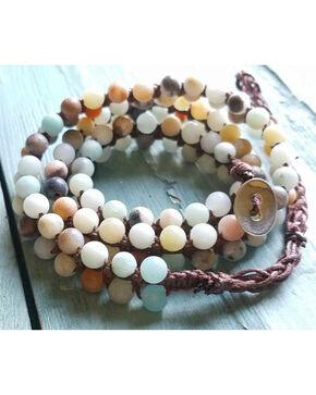 Jewelry Junkie Women's Double-Stand Amazonite Beaded Wrap Bracelet , Multi, hi-res